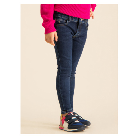 Calvin Klein Jeans Jeansy Mr Essential IG0IG00360 Granatowy Skinny Fit