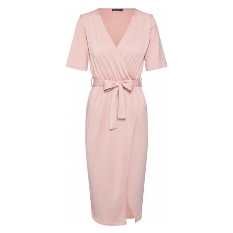 Boohoo Sukienka różowy pudrowy