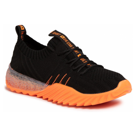 Sneakersy BIG STAR - FF274342 Black/Orange