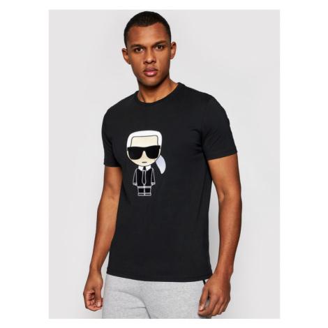 KARL LAGERFELD T-Shirt Crewneck 755060 511250 Czarny Regular Fit