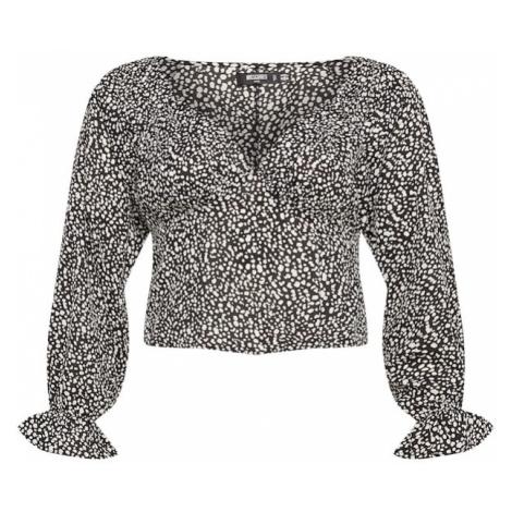 Missguided Plus Bluzka czarny / biały