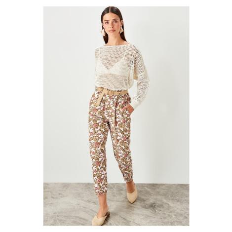 Trendyol Multicolor Belt detailed trousers