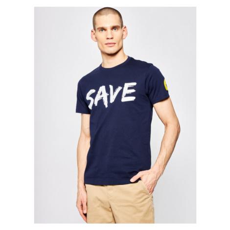 Save The Duck T-Shirt DT401M JESYX Granatowy Regular Fit