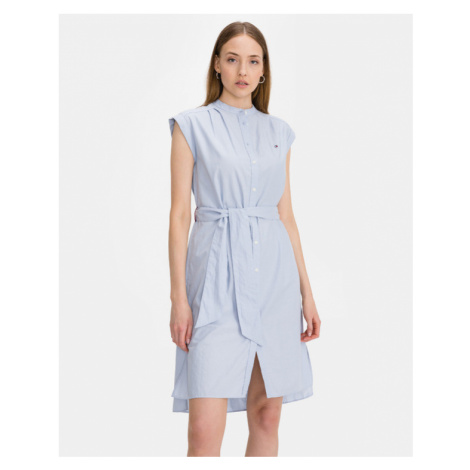 Tommy Hilfiger Oxford Sukienka Niebieski