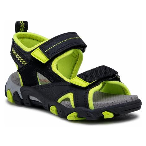 Sandały SUPERFIT - 1-009450-0000 M Schwarz/Gelb