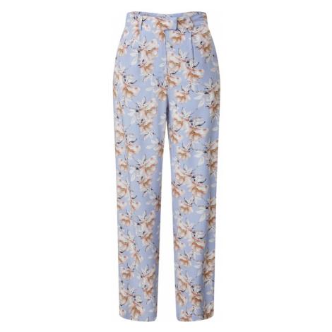 NA-KD Spodnie 'Straight flowy pants' różowy pudrowy / jasnoniebieski
