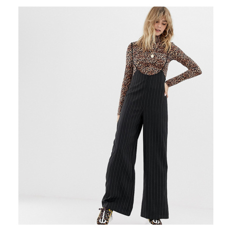 Reclaimed Vintage inspired trousers with braces in pinstripe