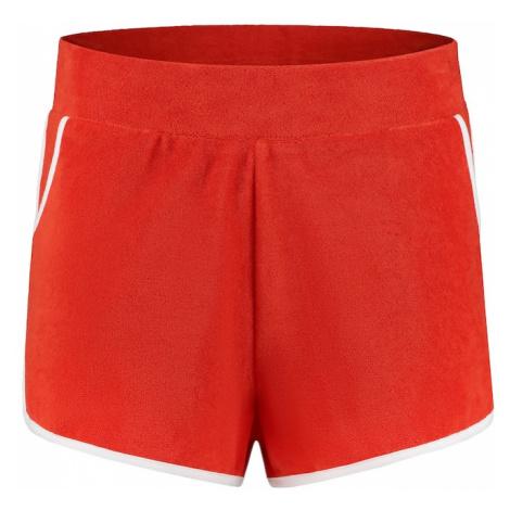Shiwi Spodnie 'Ladies terry short' czerwony