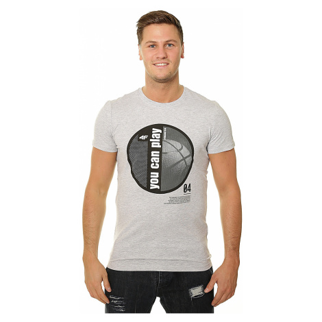 koszulka 4F X4Z18-TSM209 - 27M/Cold Light Gray Melange