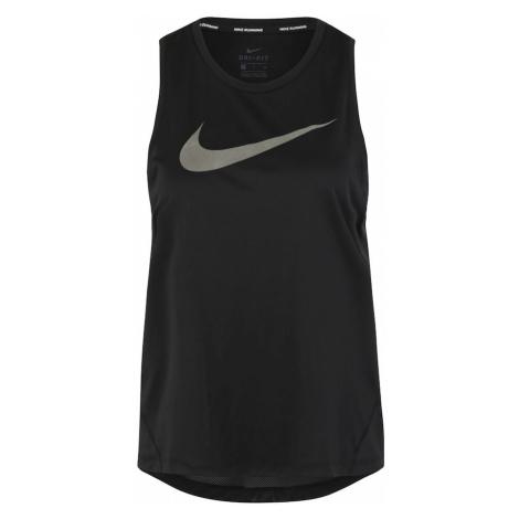 NIKE Top sportowy 'Nike Miler' czarny