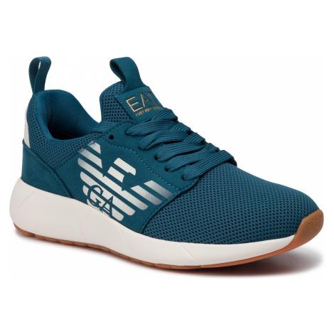 Sneakersy EA7 EMPORIO ARMANI - X8X023 XCC05 00357 Blue Coral