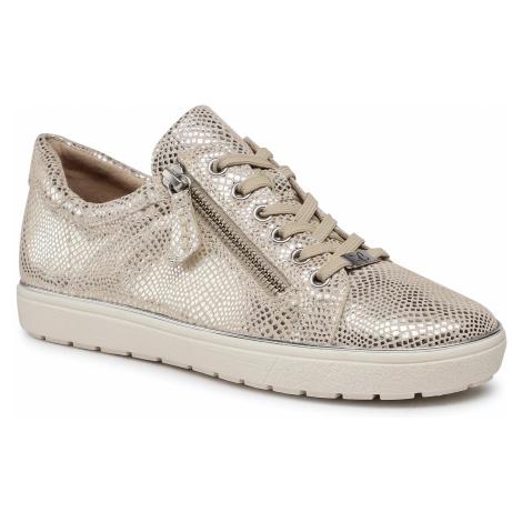 Sneakersy CAPRICE - 9-23606-26 Ecru Reptile 128