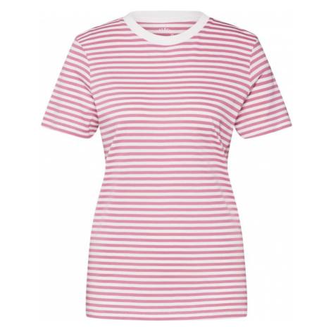 SELECTED FEMME Koszulka biały / różowy pudrowy