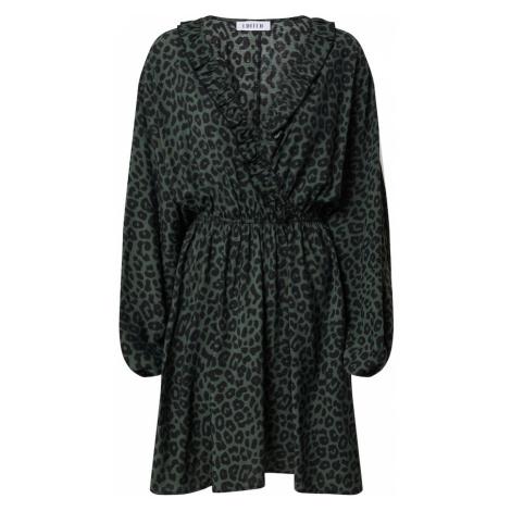 EDITED Sukienka 'Katinka' ciemnozielony / czarny