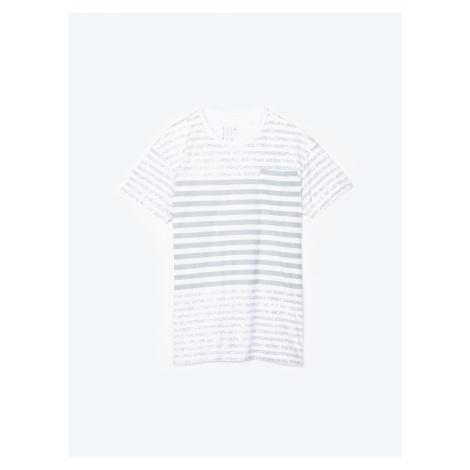 GATE Koszulka w prążki z kieszenią na piersi