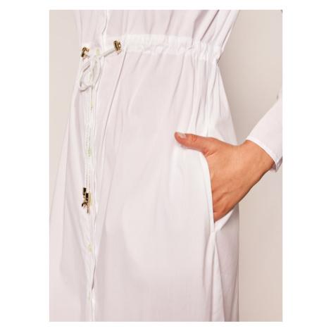 Patrizia Pepe Sukienka koszulowa 2A2107/A23-W103 Biały Regular Fit