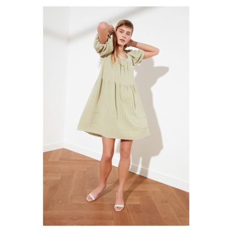 Trendyol Green Square Collar Wide Cut Dress