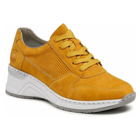 Sneakersy RIEKER - N4317-68 Gelb