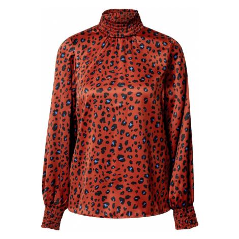 ONLY Bluzka 'Tabby' niebieski / pomarańczowo-czerwony