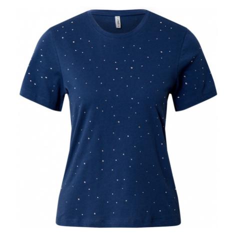 ONLY Koszulka 'ONLLAGUNA' srebrny / ciemny niebieski
