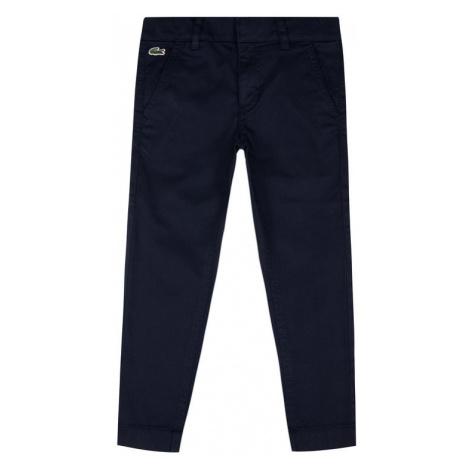 Lacoste Spodnie materiałowe HJ9505 Granatowy Regular Fit