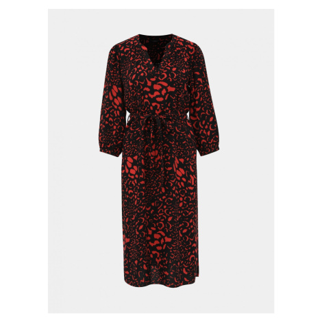 M&Co Leopard-Print Red-Black Dress M&Co
