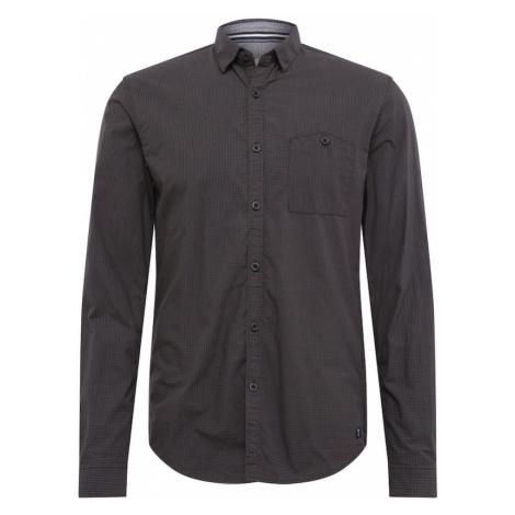 TOM TAILOR DENIM Koszula biznesowa 'mini vichy shirt' czarny / khaki