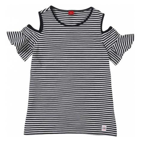 S.Oliver Junior Koszulka atramentowy / biały