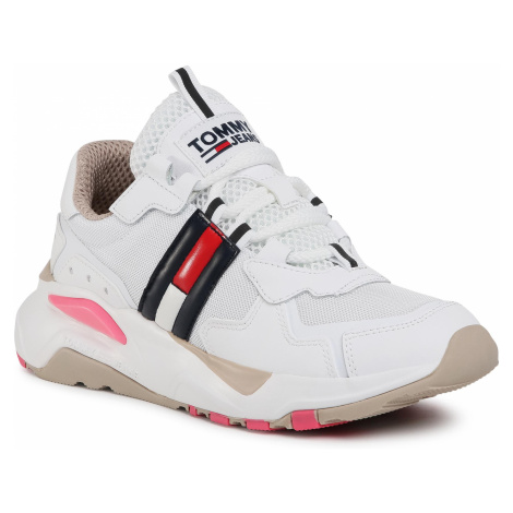 Sneakersy TOMMY JEANS - Tommy Jeans Cool Runner EN0EN00984 White/Glamour 0LC Tommy Hilfiger