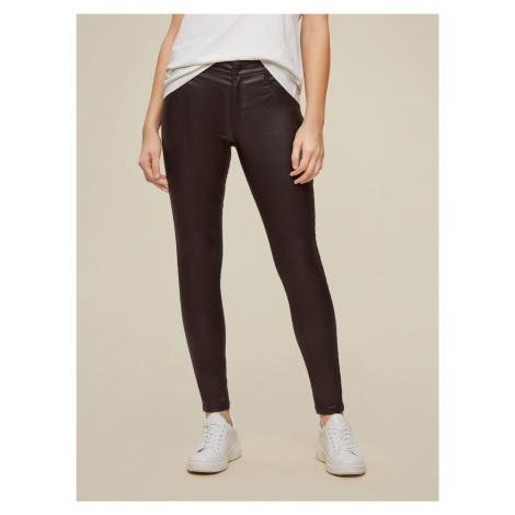 Dorothy Perkins ciemno brązowe skinny fit spodnie