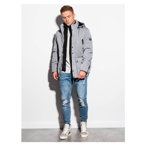Ombre Clothing Men's mid-season quilted jacket C449