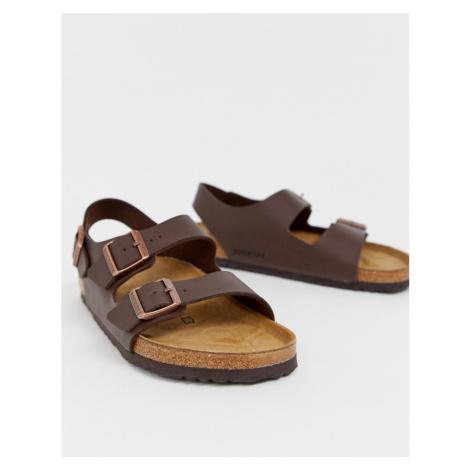Birkenstock Milano birko-flor sandals in dark brown