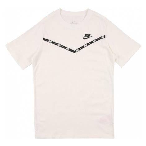 Nike Sportswear Koszulka biały / czarny