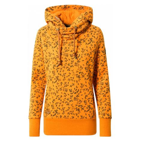 Ragwear Bluzka sportowa czarny / pomarańczowy