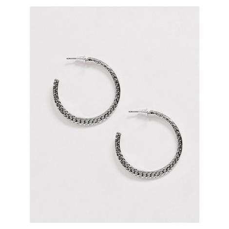 Miss Selfridge beaten effect medium hoop earrings