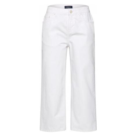 PIECES Spodnie 'BEX' biały