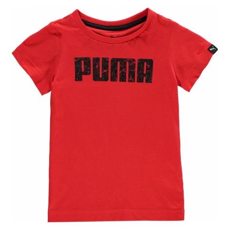 Puma Logo T Shirt Junior Boys