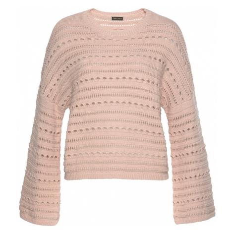 LASCANA Sweter różowy pudrowy