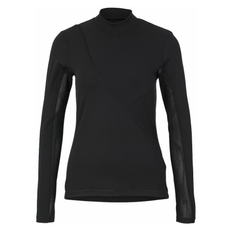 NIKE Koszulka funkcyjna 'W NP HPRCL RIB LS TOP' czarny