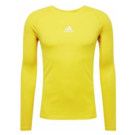 ADIDAS PERFORMANCE Koszulka funkcyjna żółty / biały