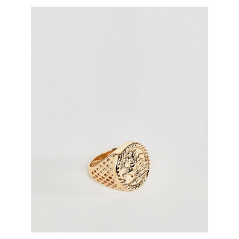 Chained & Able Sovereign ring in gold
