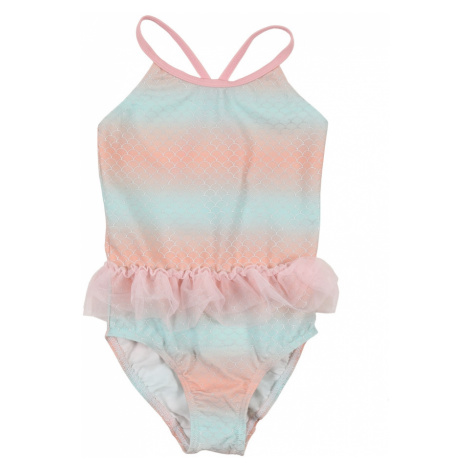 NAME IT Strój kąpielowy pastelowy niebieski / różowy pudrowy