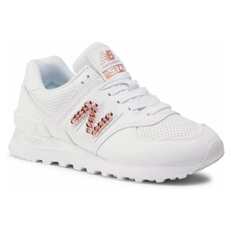 Sneakersy NEW BALANCE - WL574HNE Biały