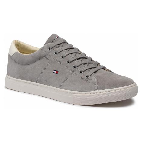 Sneakersy TOMMY HILFIGER - Seasonal Suede Vulc Sneaker FM0FM02851 Antique Silver PRT