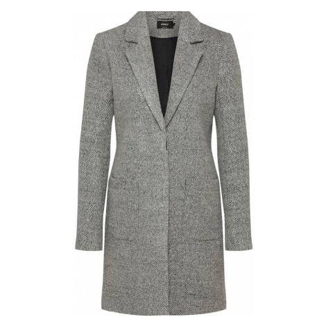 ONLY Płaszcz zimowy 'STONE WOOL COAT' jasnoszary / nakrapiany szary