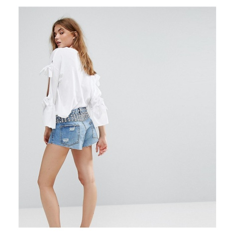 Pull&Bear Button Up Shorts With Stud Pull & Bear