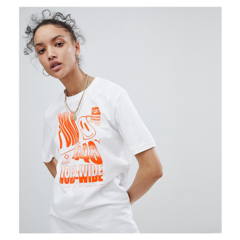Puma Exclusive To ASOS T-Shirt With Acid Graphic In White