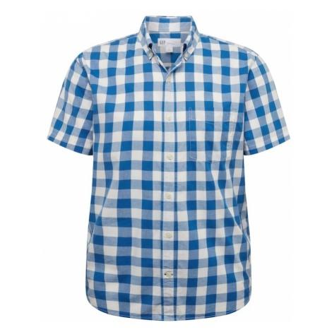 GAP Koszula 'V-SS POPLIN' niebieski / biały
