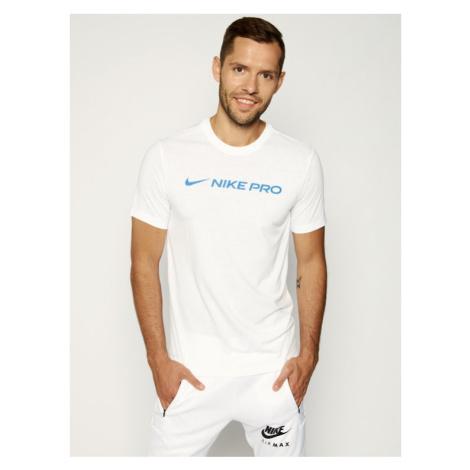 NIKE Koszulka techniczna Dri-FIT Pro CD8985 Biały Regular Fit