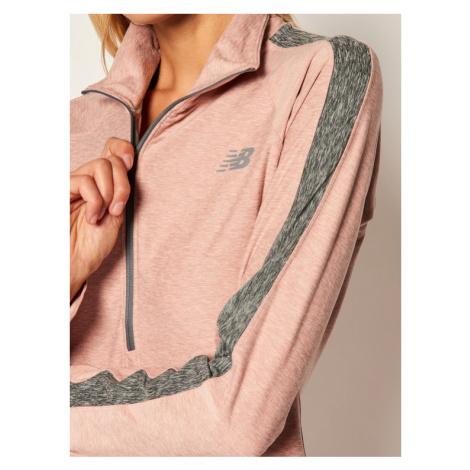 New Balance Bluza techniczna NBWT03152 Różowy Regular Fit